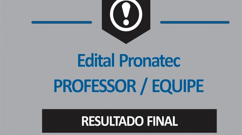 RESULTADO FINAL - EQUIPE E PROF